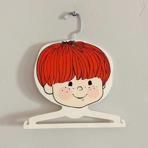 Vintage 70s Red Headed Boy Kids Clothing Hanger